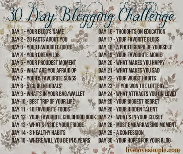 30-day Blog 30 Day Blogging Challenge