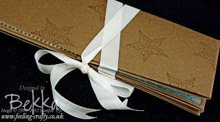 Adorable Beau Chateau Mini Album - ready to add photos and embellishments by Bekka www.feeling-crafty.co.uk