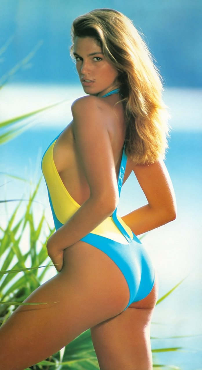 Cindy crawford yellow swimsuit