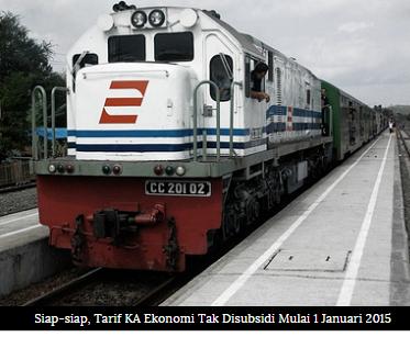 Mulai 1 Januari 2015 Harga Tiket Tarif Kereta Api Ekonomi Naik