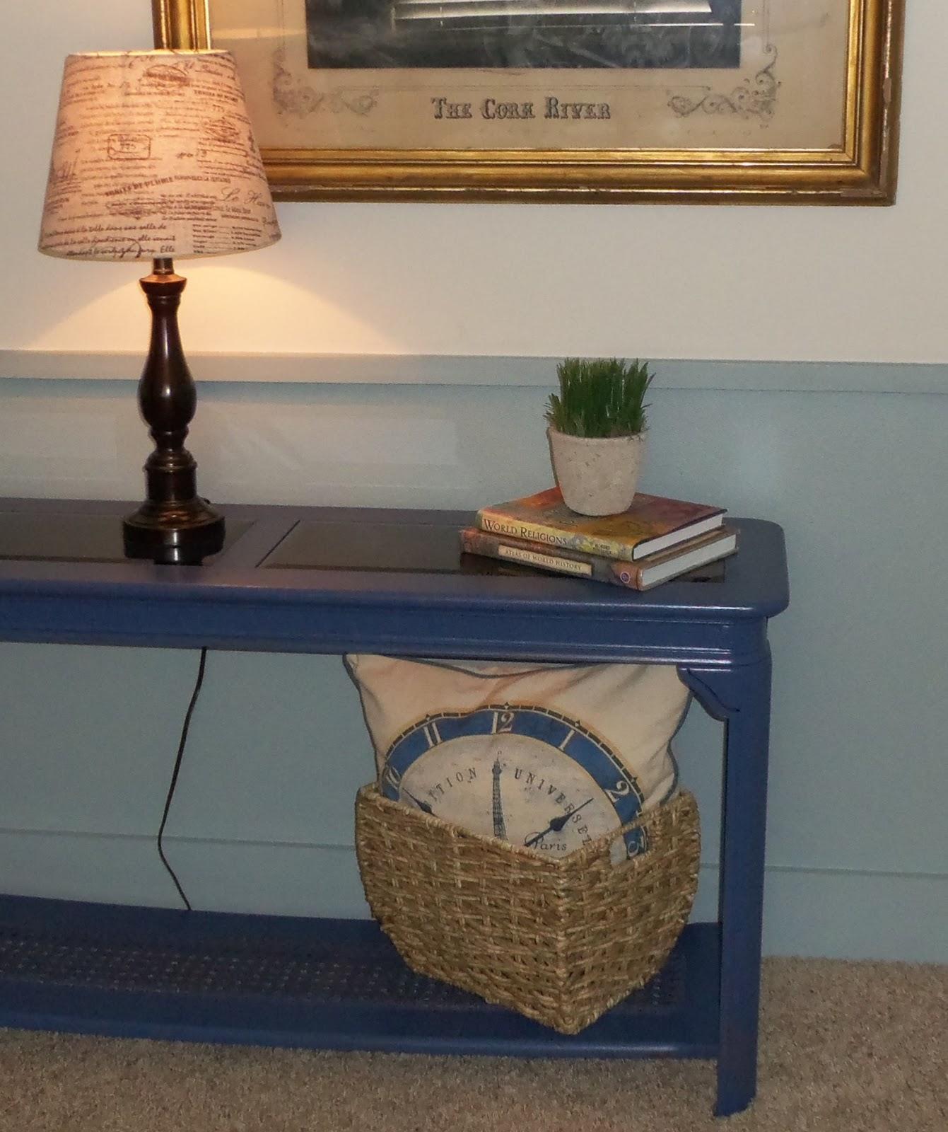 Kiki Nakita: Royal Blue Sofa Console Table