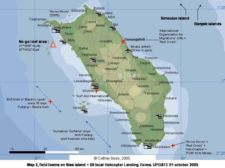 Peta Pulau Nias :