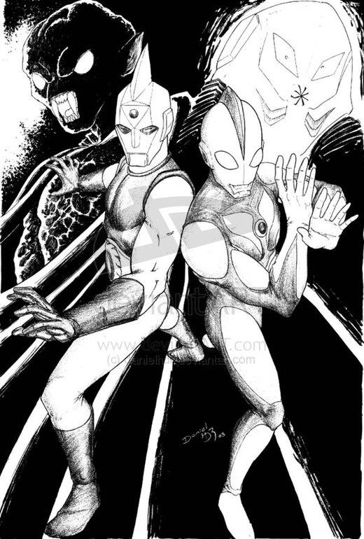 Ultraman and Spectreman por danielhdr