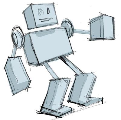 sketc of a robot
