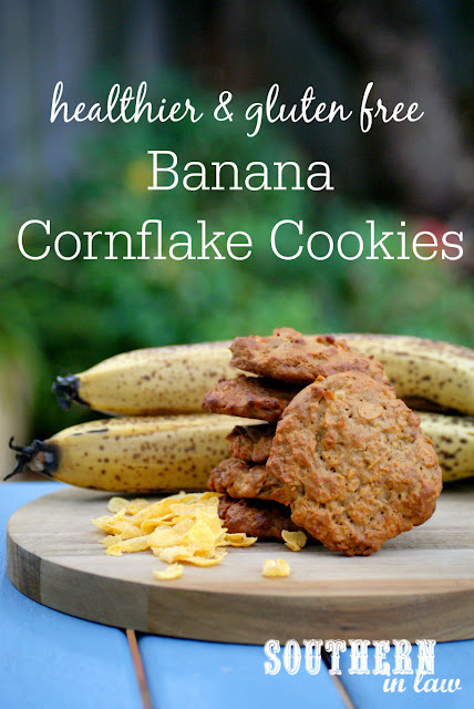 Low Fat Banana Cornflake Cookies Recipe  low fat, gluten free, healthy, healthier, lower sugar, refined sugar free