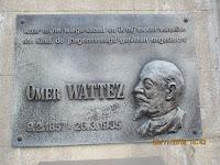 gedenkplaat geboortehuis Omer Wattez in Schorisse
