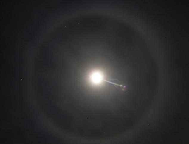 ufo sightings daily ufo seen inside ring around moon jan