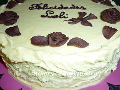 tarta de chocolate blanco