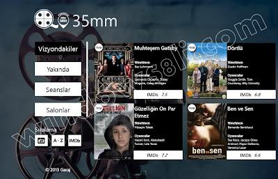 35mm sinema uygulaması