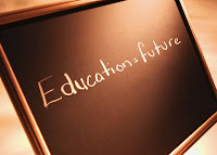 chalk board says education equals future