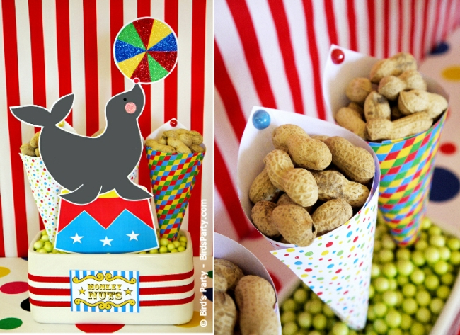Big Top Circus Carnival Inspired Birthday Party Ideas and Printables decor