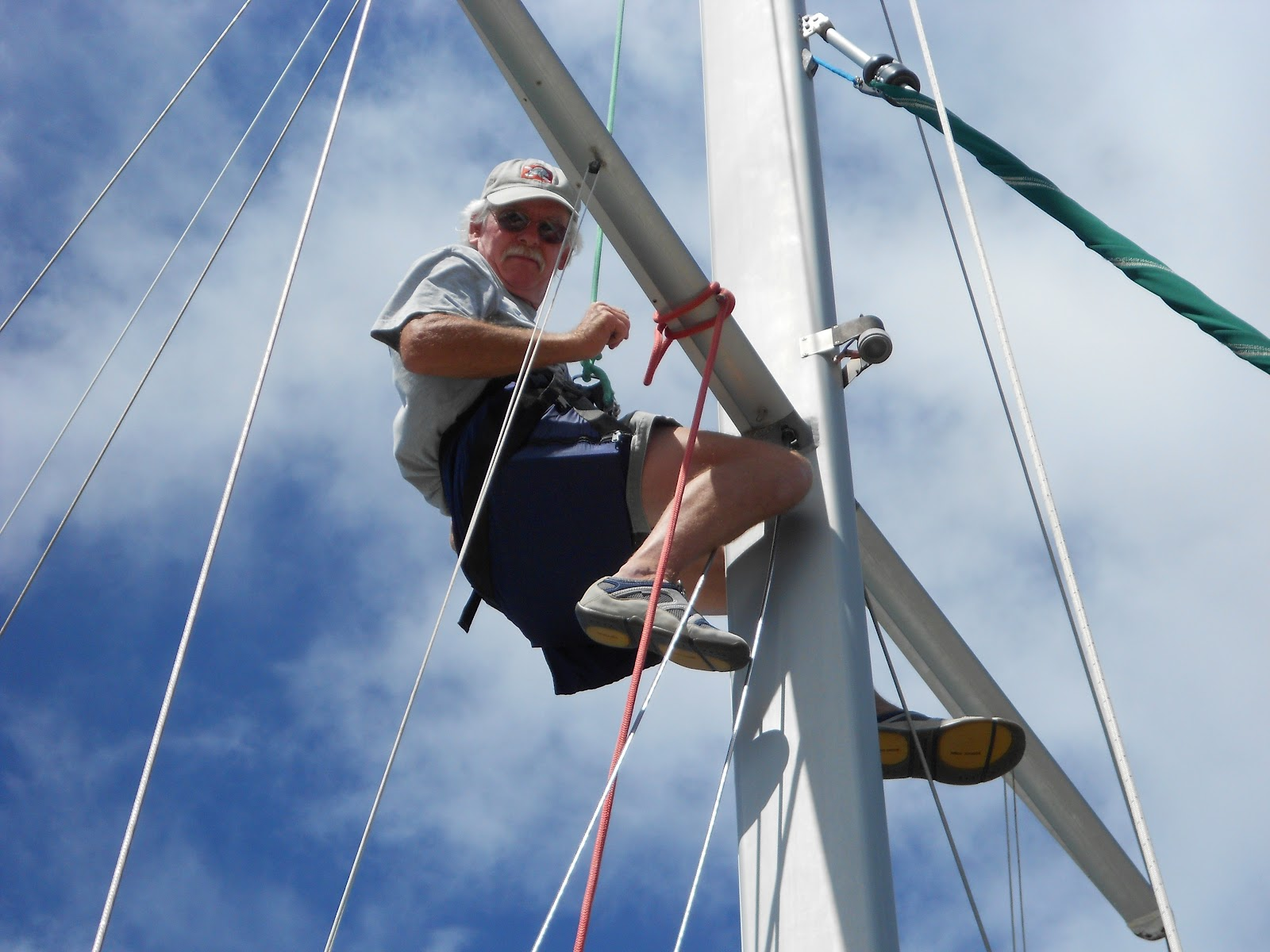 Sailing Vessel Gra inne Working on the rigging