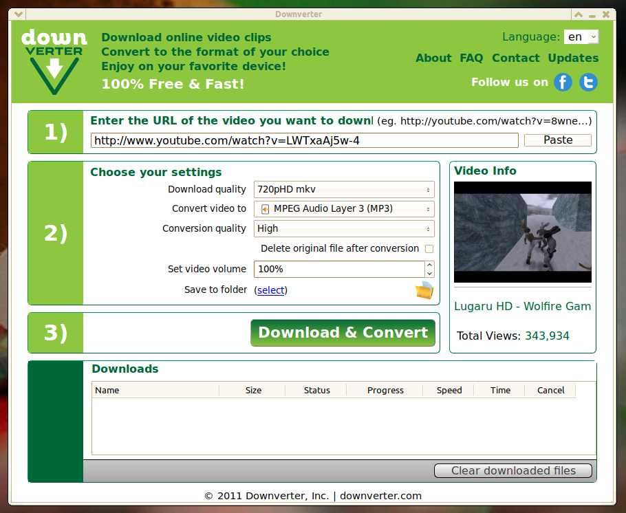 DownVerter: Download dan Convert Video YouTube