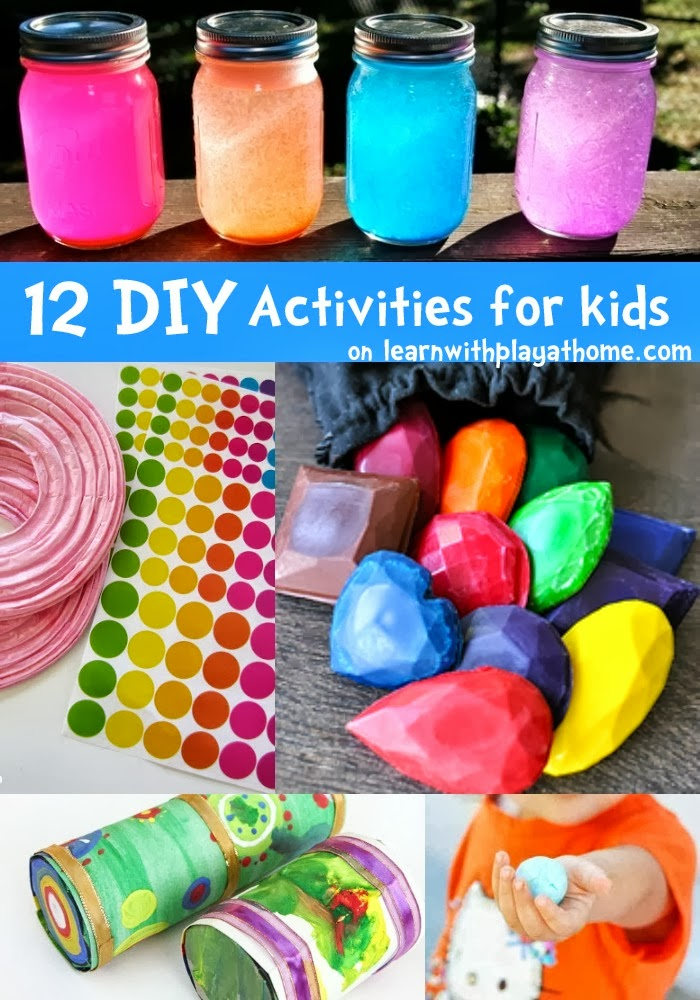Learn with play at home 12 fun diy activities for kids for Fun projects for kids to do at home
