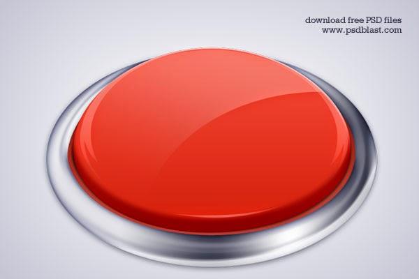 High Resolution Push Button PSD Icon