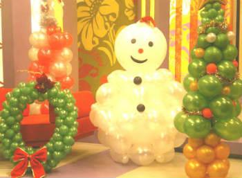 Decoraci n navide a con globos videos paso a paso for Decoracion navidena infantil
