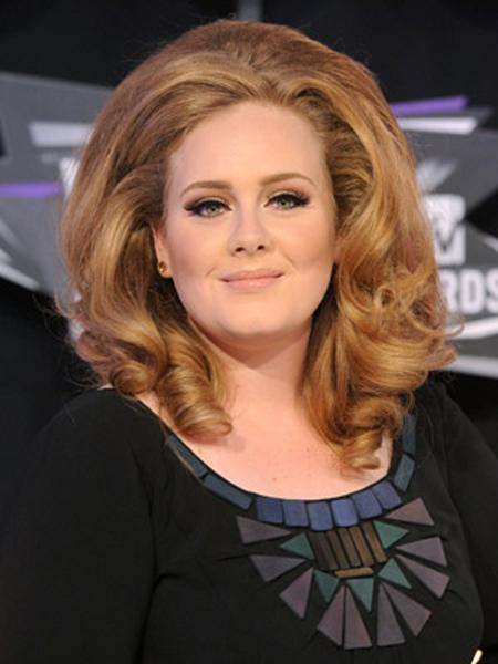 Adele Round Face Shape Hairstyles
