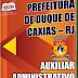 Apostila Concurso Prefeitura de Duque de Caxias 2015 - Auxiliar Administrativo