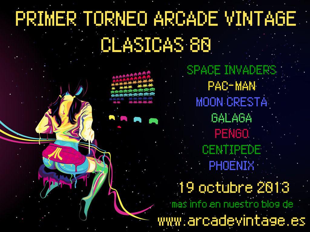 www.arcadevintage.es, torneo arcade, maquinas arcade, marcianitos