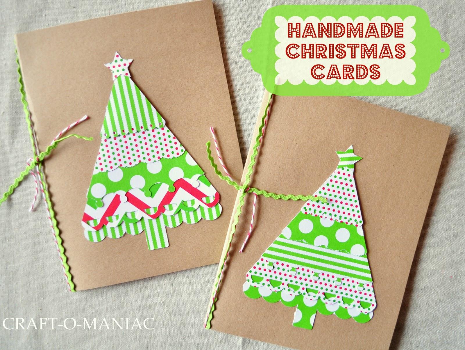 Handmade Christmas Cards - Craft-O-Maniac