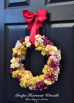 New Craft Post: Grape Harvest Wreath