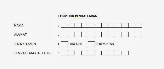 cara membuat formulir pendaftaran di ms excel