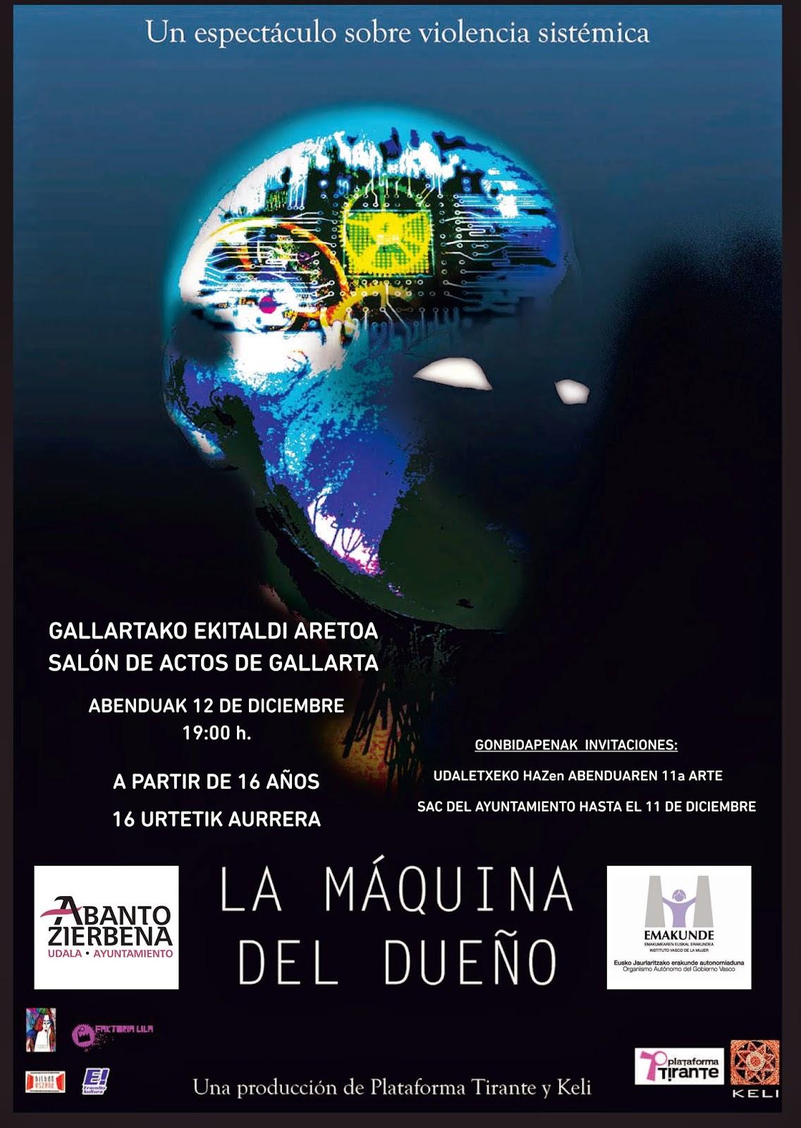 La obra de teatro La Máquina del Dueño llega a Abanto