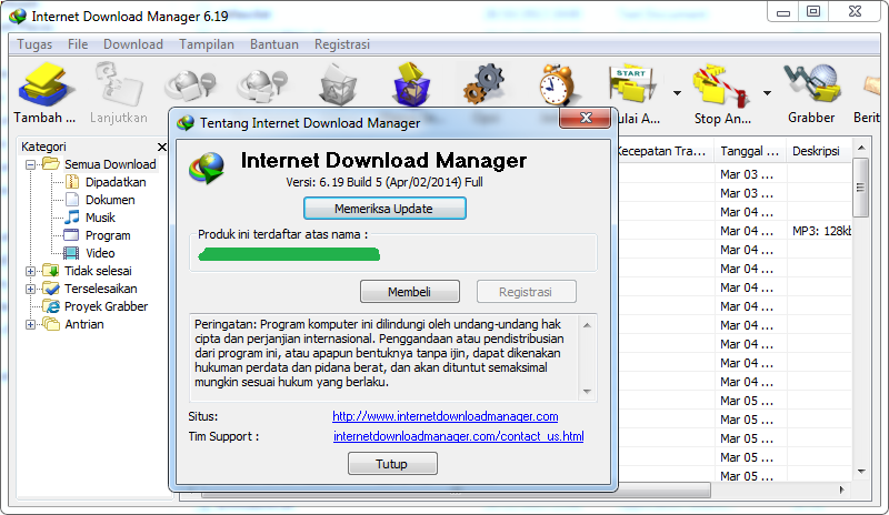 Internet Download Manager 6.19 Build 5 Final Full Serial Key Terbaru