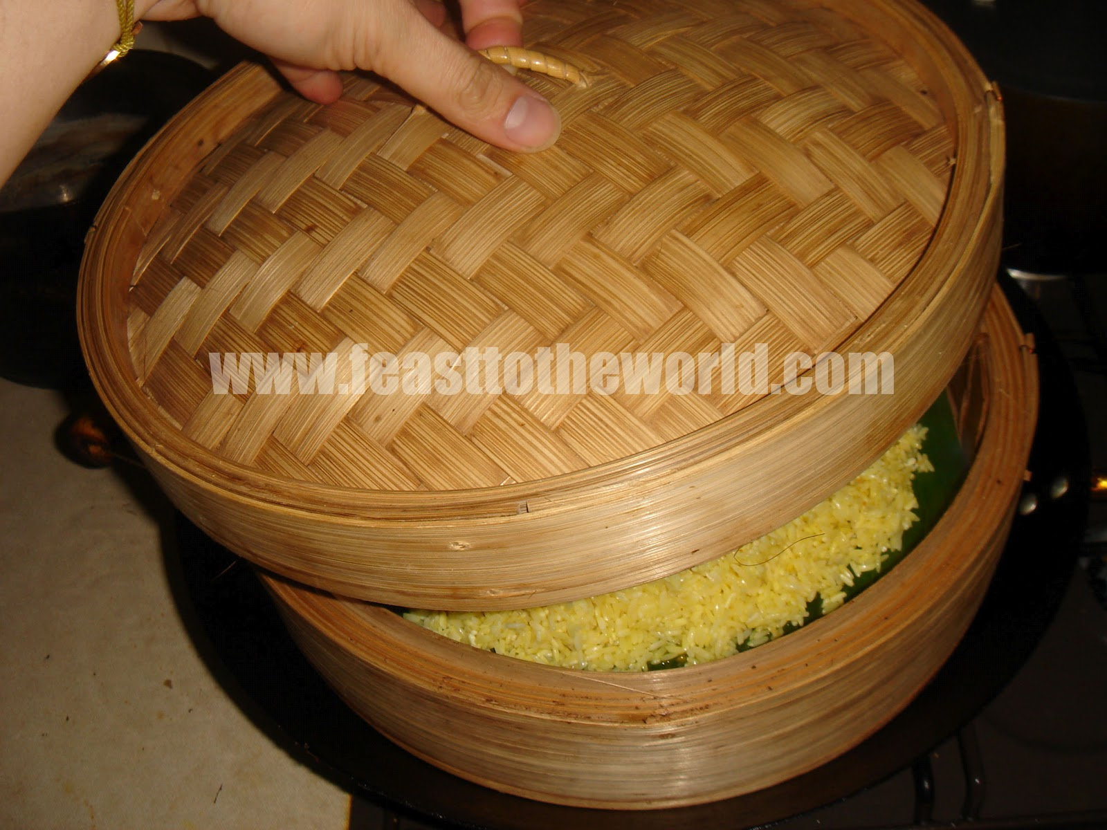 how to cook yellow glutinous rice