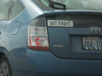 YES! WE HAVE HOPE! (hope...my word for this year. We saw this on the way to the airport. Nice!)