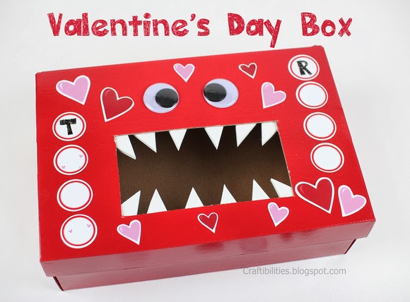 Monster Valentine Box for School
