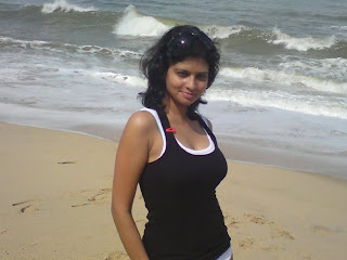 goa beach indian girl