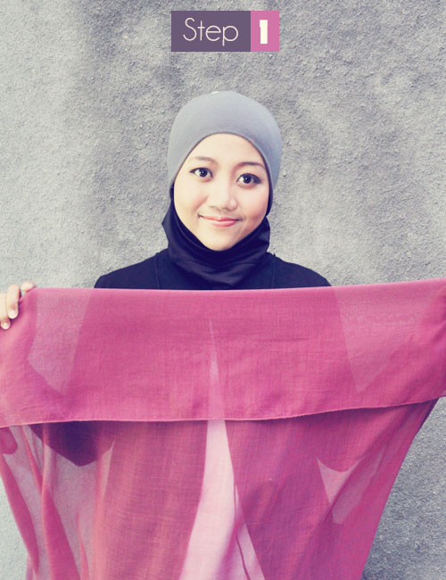 Cara Memakai Jilbab Segi Empat Kreasi Modis