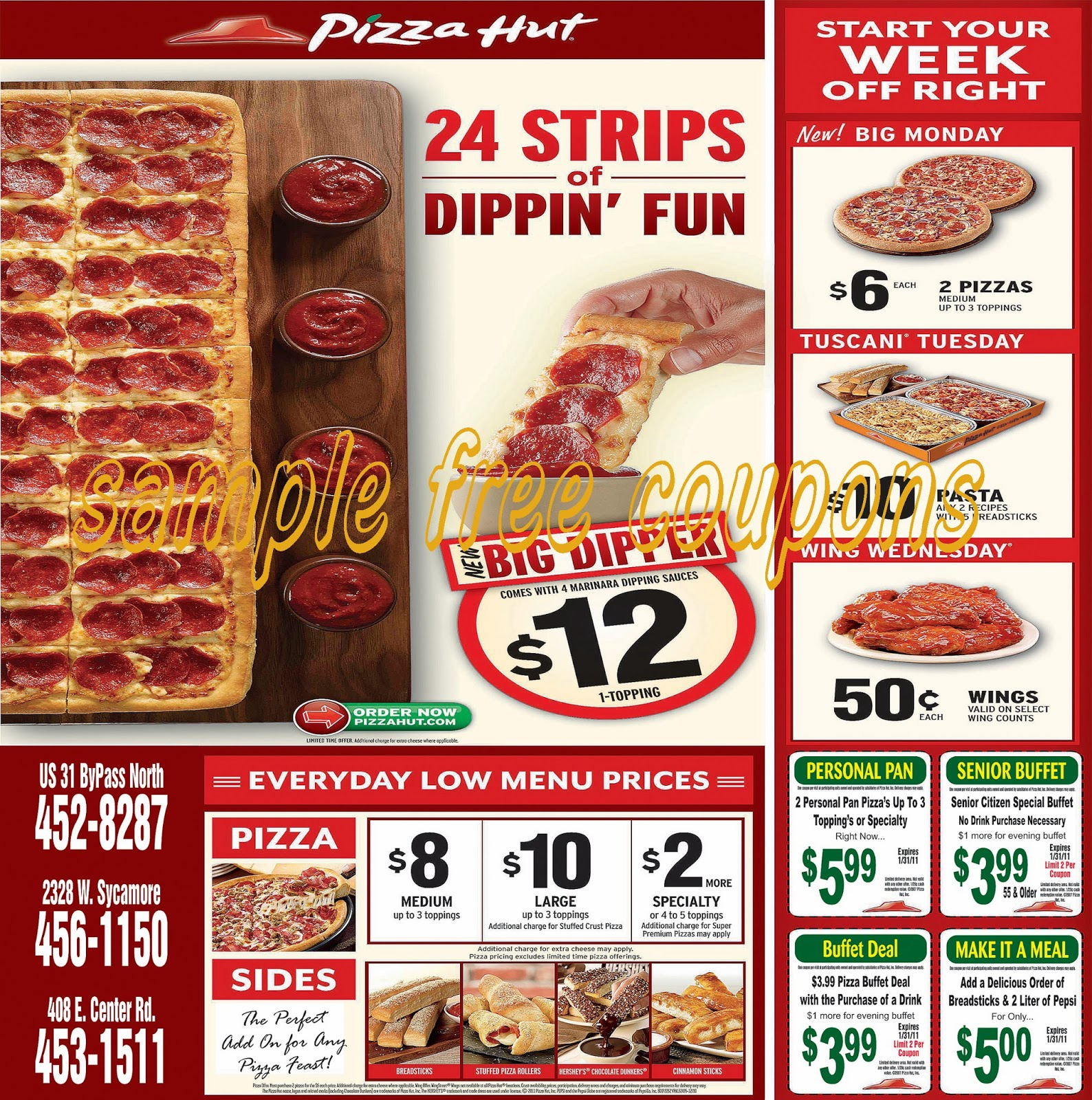 pizza hut usa menu pdf