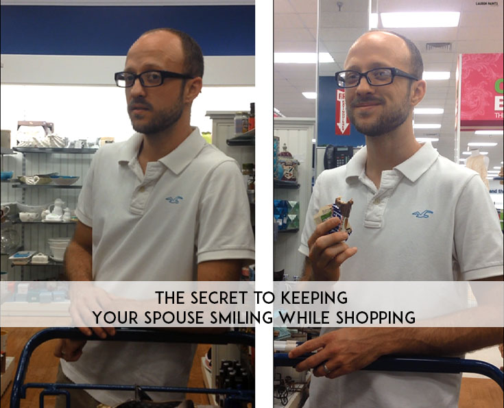 The Secret to Keeping Your Spouse Smiling While Shopping + a SNICKERS® Pudding Parfait
