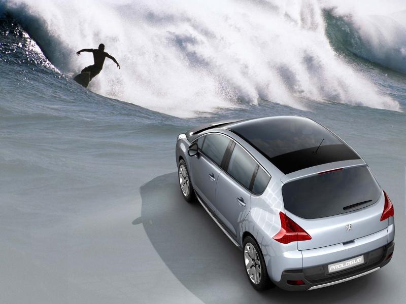 papel de parede Surf e carro
