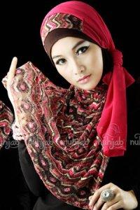 Nuhijab SSB Tribal - Pink (Toko Jilbab dan Busana Muslimah Terbaru)