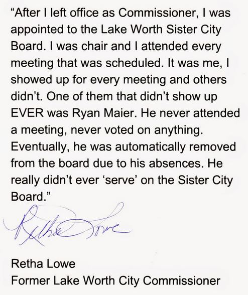 Sister City Board: Keep the faith!