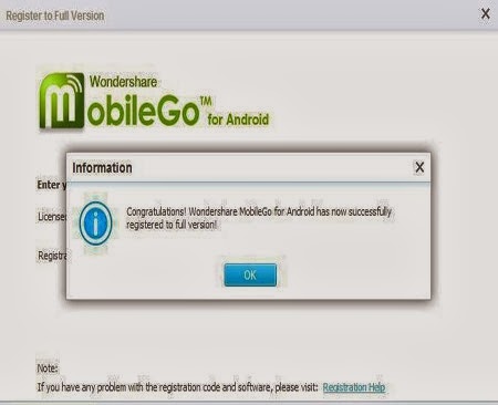Wondershare MobileGo For Android Serial Key