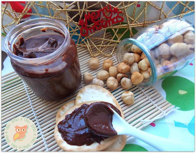 natale home-made - crema spalmabile nocciola e cioccolato fondente senza latte ovvero la versione sana della nutella: senza latte e conservanti