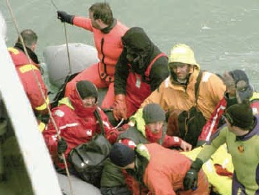 Muere un kayakista en Bahia Franklin