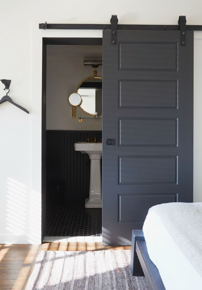 Door Solutions For Small Spaces the little house in the city: apartment renovation: barn door solution