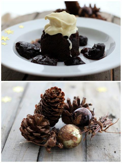 Death by chocolate cake, Vanilleeis mit schwarzem Kardamom und Zimtblüte, Pflaumen in Mucadel Red | Arthurs Tochter Kocht by Astrid Paul