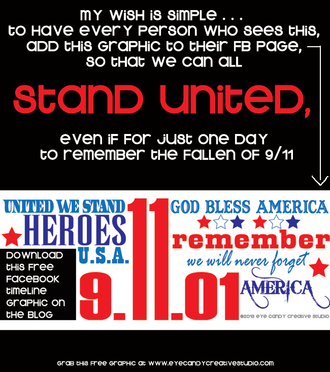 free 9/11 art, 9/11 facebook timeline graphic, 9/11, 9-11, stand united