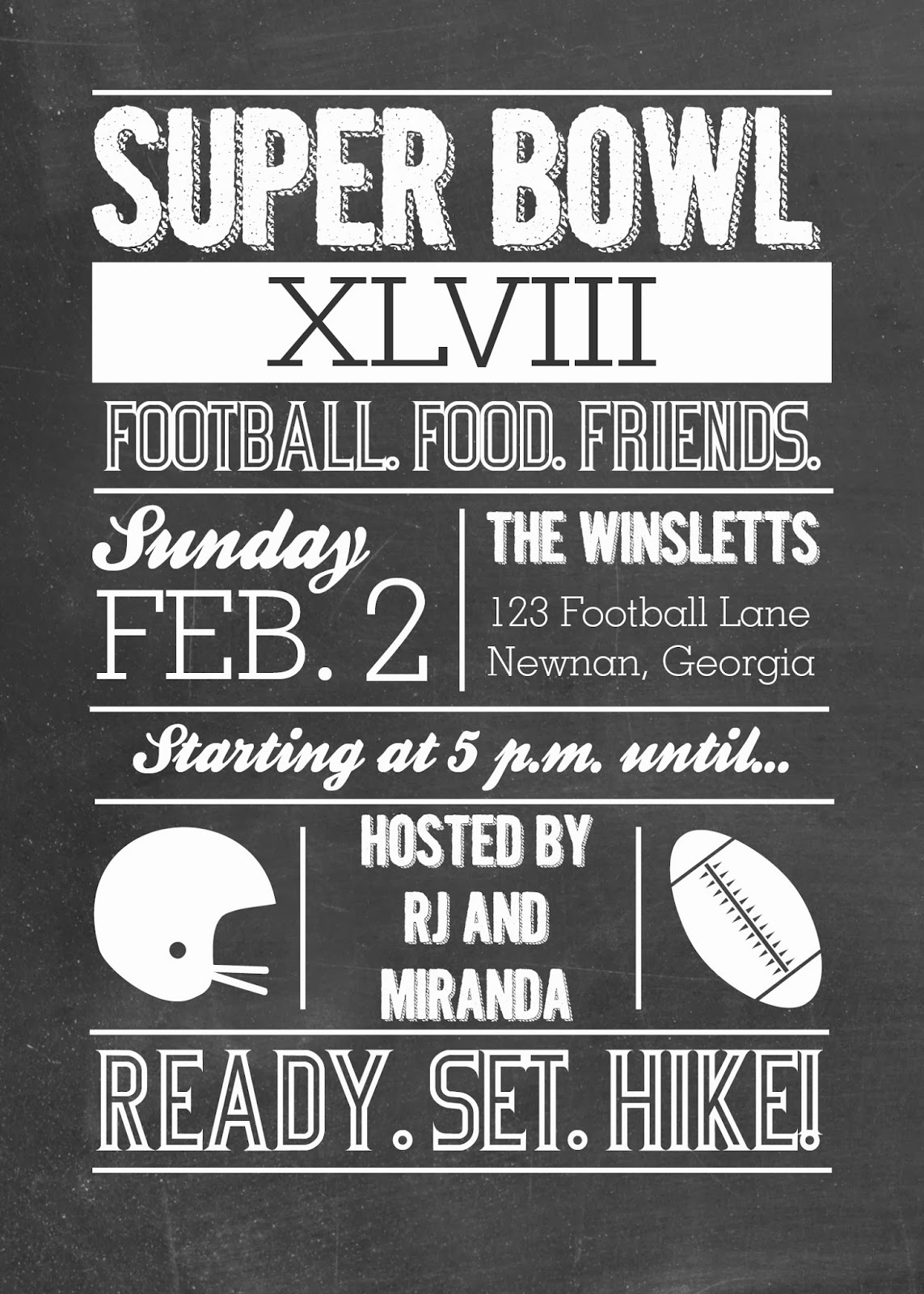 Xavitos what 39 s new for Super bowl party invitation template