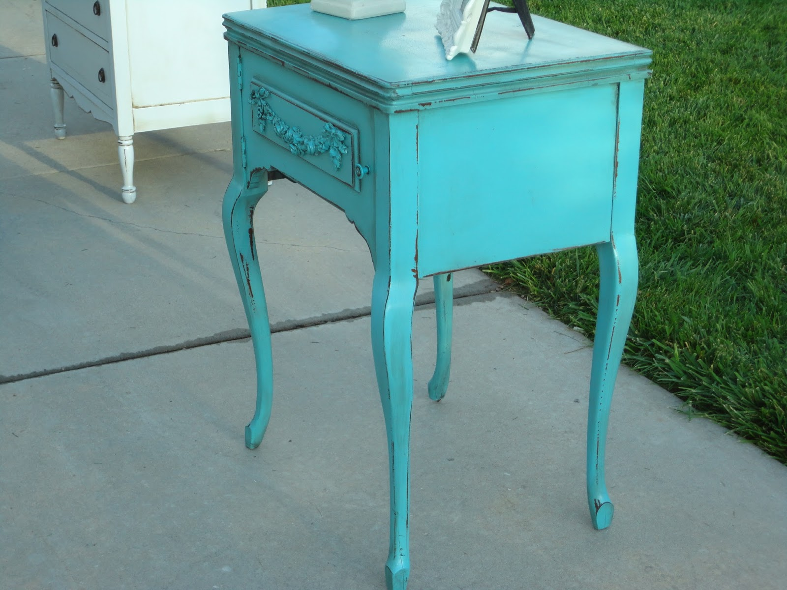 French Garden Treasures French Garden Treasures Romantic Teal Nightstand $250 SOLD SOLD