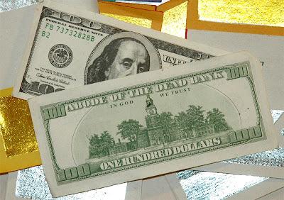 Chinese ghost money, US$100 bill