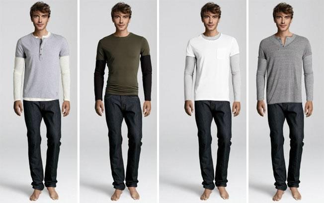 Como usar malha de manga comprida com t-shirt: com pouco ou nenhum contraste (Foto: Divulgação/H&M)