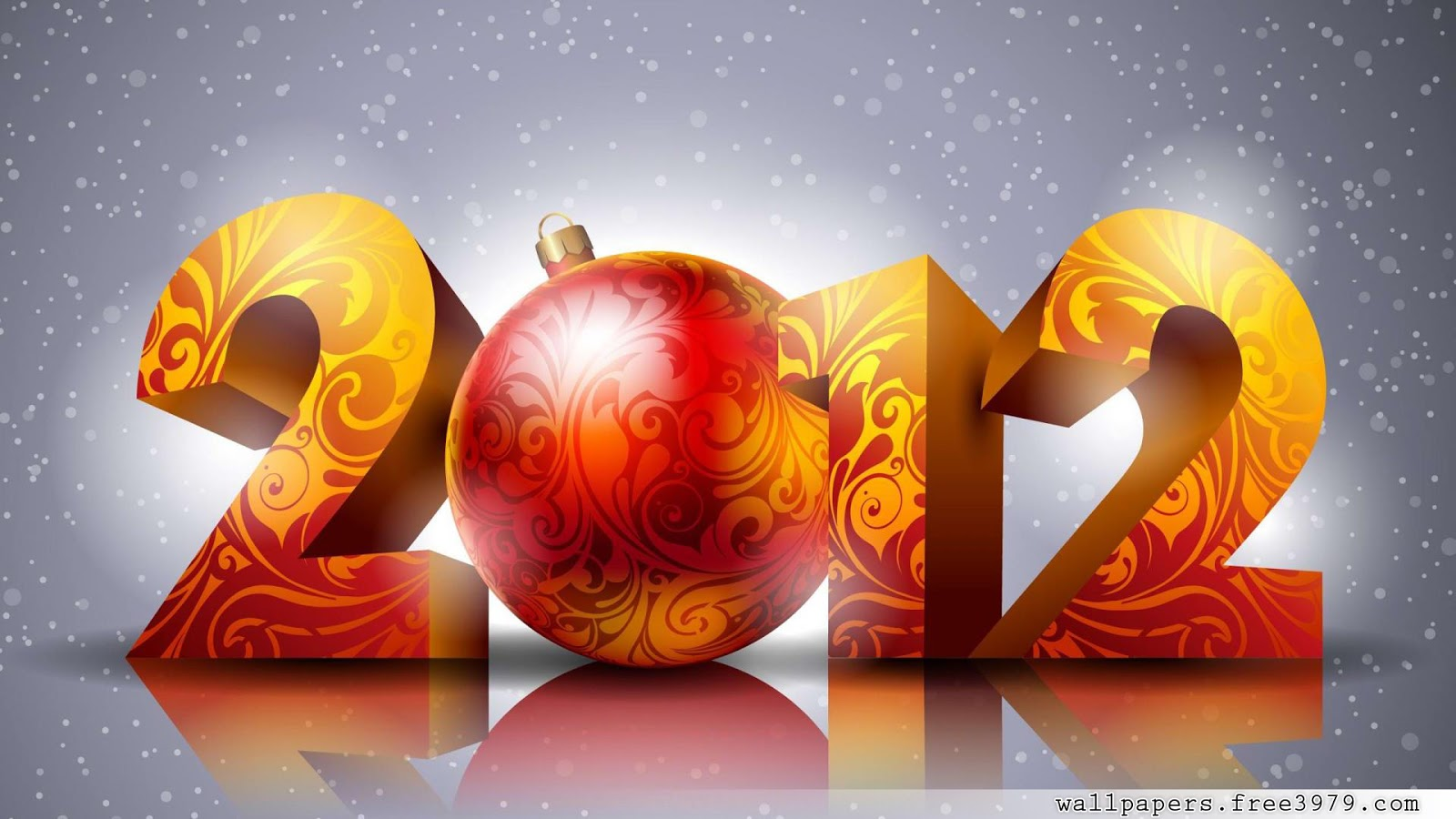 Happy New Year 2013 3D