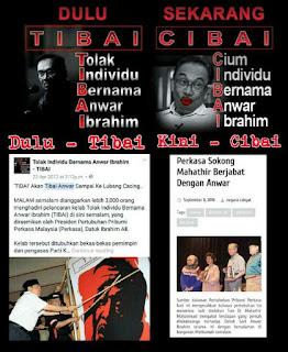 Mahathir & Anwar: Dulu Tibai, Kini Cibai